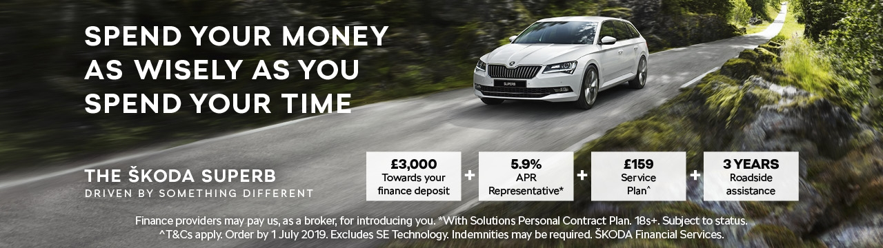 ŠKODA Superb from £349 per month