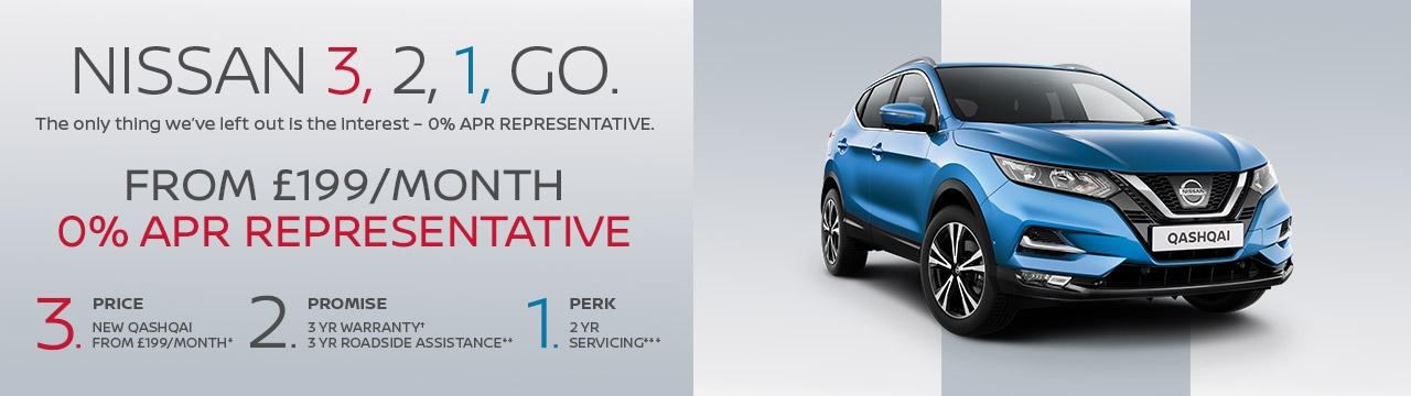 New Nissan Qashqai with 0% APR