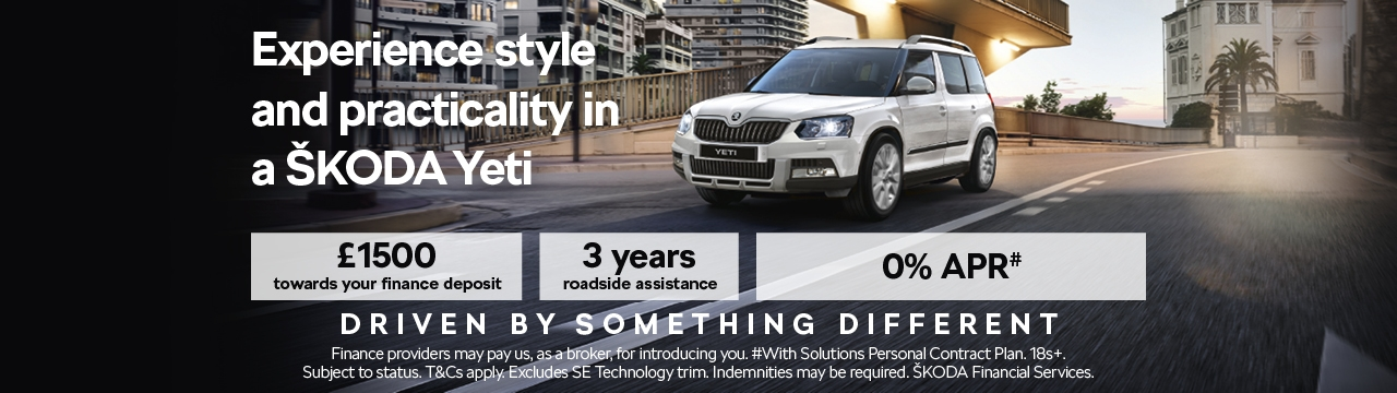 The ŠKODA Yeti with 0% APR