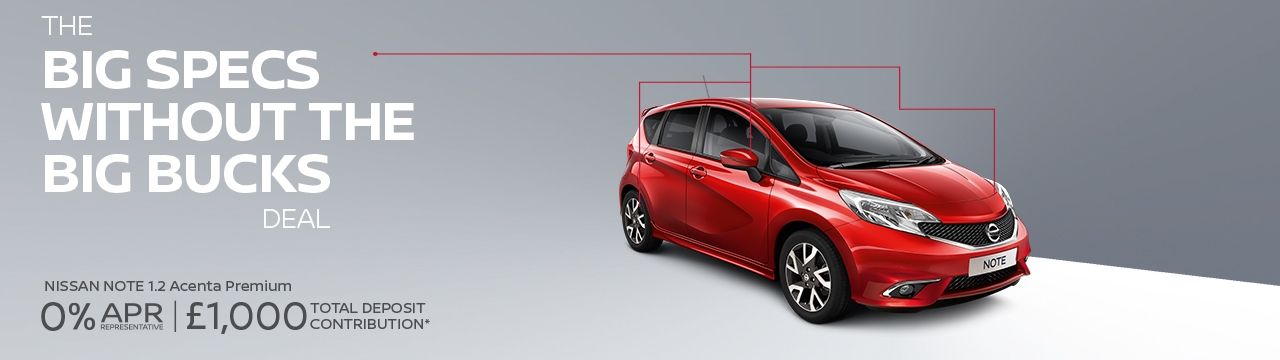 sparshatts group offer - nissan note £139 a month