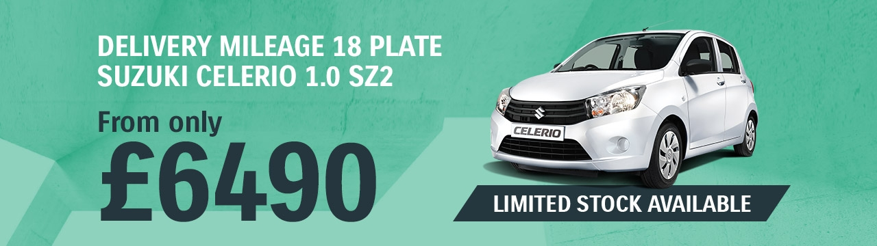 GET AN 18 PLATE SUZUKI CELERIO WITH UP TO £1,500 OFF