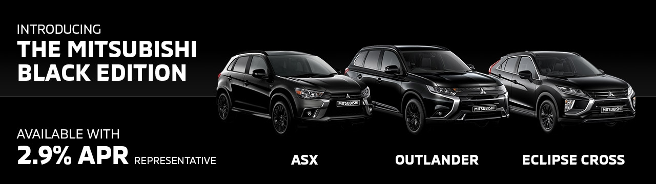 Mitsubishi Black Editions available with 2.9% APR